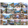 RUOPOTY Sea scenery DIY oil Painting By Numbers Kit acrylic paint by numbers art work diy Paintings art on canvas