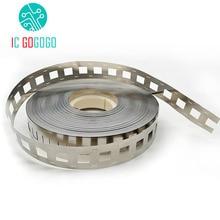 1kg 2P 18650 Lithium Battery Nickel Plated Steel Strip SPCC Nickel Sheet Belt Tape 0.15mm Battery Pack Connector 2 in parallel