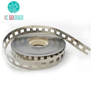 Image 1 - 1kg 2P 18650 Lithium Battery Nickel Plated Steel Strip SPCC Nickel Sheet Belt Tape 0.15mm Battery Pack Connector 2 in parallel