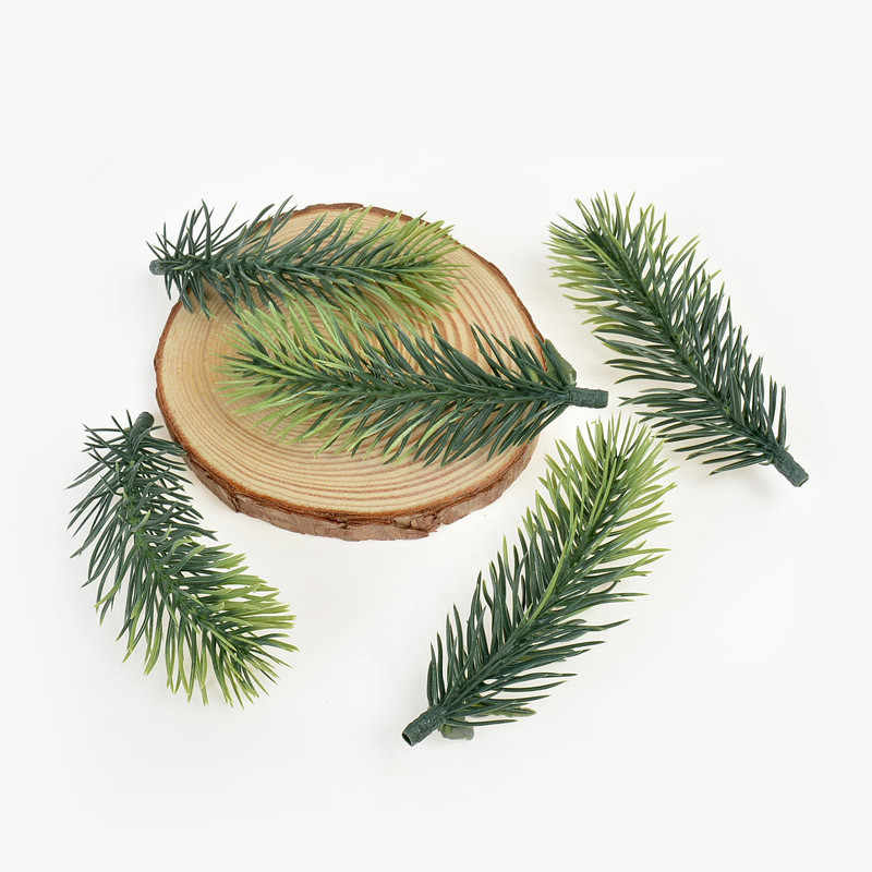 10pcs  Pine Branches Artificial Fake Plant Artificial Flower Branch Christmas Party Decoration DIY Bouquet Gift Box Accessorie