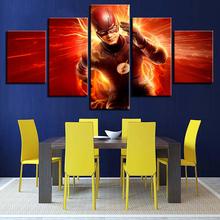 Home Decor Modular Canvas Picture 5 Panel Flash Barry Allen Movie Posters Painting Framework Wall Art For Living Room HD Prints