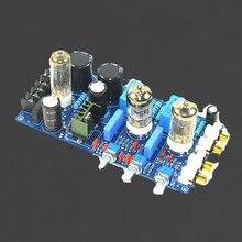 KYYSLB AC podwójne 150V AC8V AC6.3V wzmacniacz lampowy tablica dźwiękowa 6N1 domowe audio żółci przedwzmacniacz tablica dźwiękowa 220 UF/250 V 1% odporności metalu