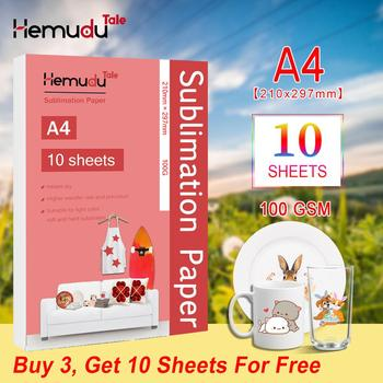 A4 Sublimation Heat Transfer Paper 100G 10sheets  For Polyester T-Shirt Cushion Fabrics Phone Case Printing Design