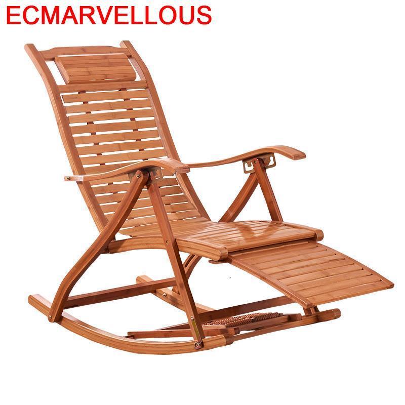 Arm Floor Dobravel Rocking Chair Bamboo Sillones Moderno Para Sala Cama Plegable Folding Bed Sillon Reclinable Chaise Lounge|Chaise Lounge| |  -