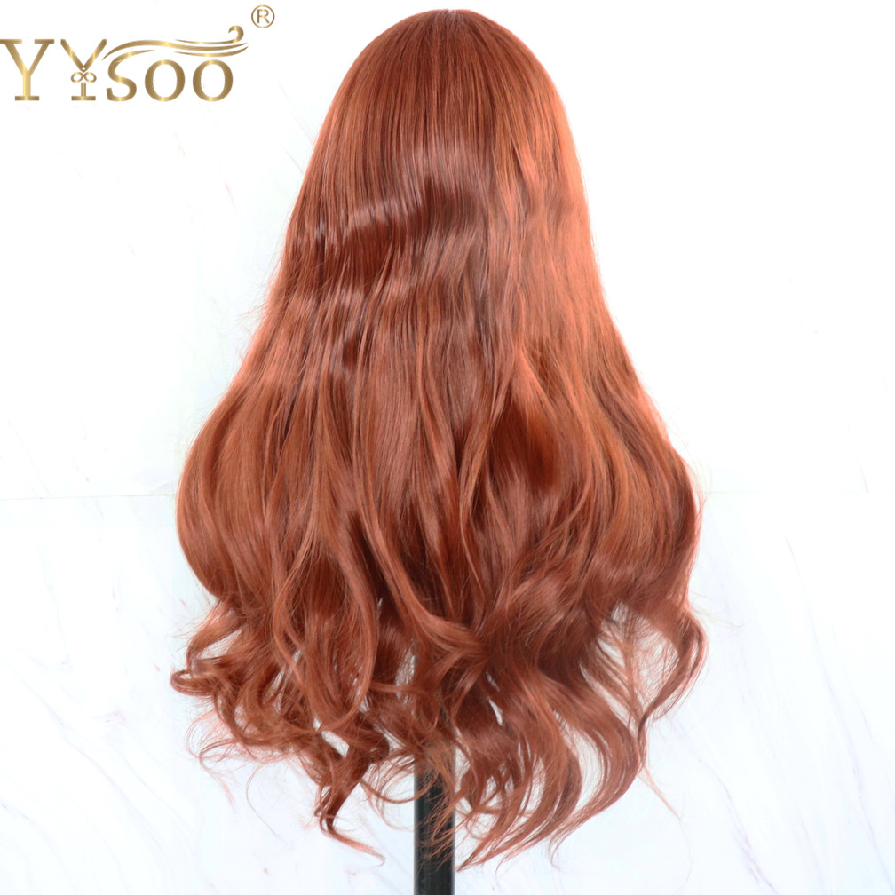 Yysoo #350 cor futura cabelo sintético longo
