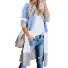 Sweater Open Front Women Cardigan Lightweight Autumn Outwear Coat Thin Fashion Long Plus Size Soft Knitted Long Sleeve Casual(China)