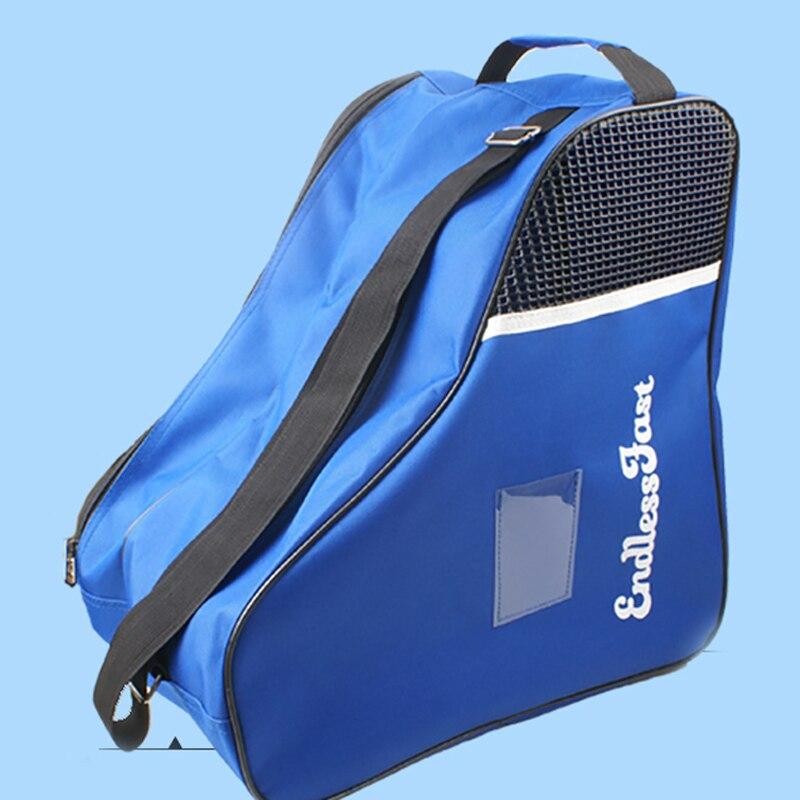 Professional Skate Bag Backpack Increase Capacity Roller Figure Skating Storage Bag Shoulder Pink Blue For Children Adult