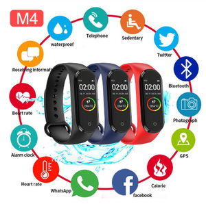 Image 2 - M4 スマートリストバンドバンド 4 ブレスレットの bluetooth 腕時計心拍数フィットネススリープモニター防水スマートブレスレット腕時計男性女性