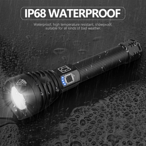 Image 3 - Powerful XHP90 XHP70.2  LED Flashlight long range Power Display Torch USB Zoomable 3 modes 26650 USB Rechargeable Large battery