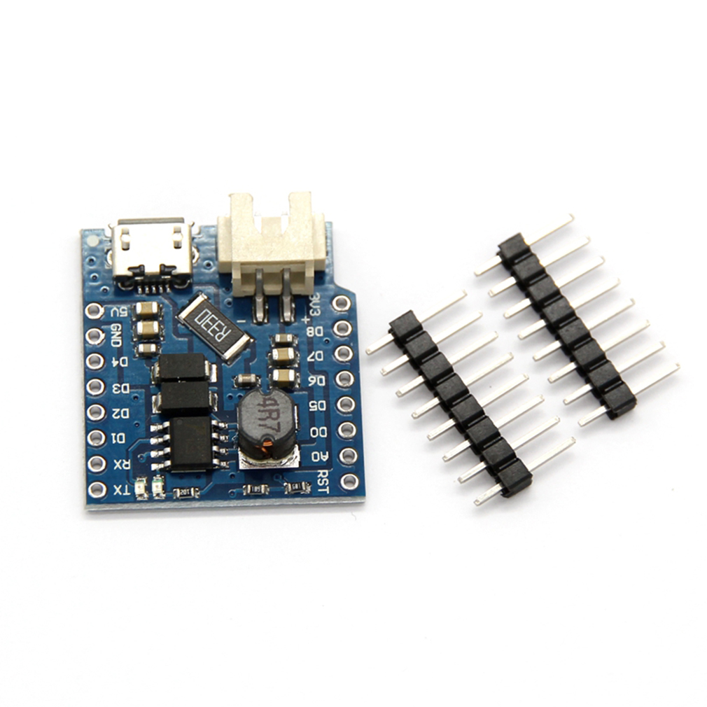 Battery Shield For WeMos D1 Mini Single Lithium Battery Charging & Boost With Green/Red Light Indicator