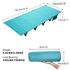 Сверхлегкая складная кровать для рыбалки, кемпинга, сна, портативный рюкзак, палатка, кроватка для внутренней мебели, Для Путешествий, Поход...