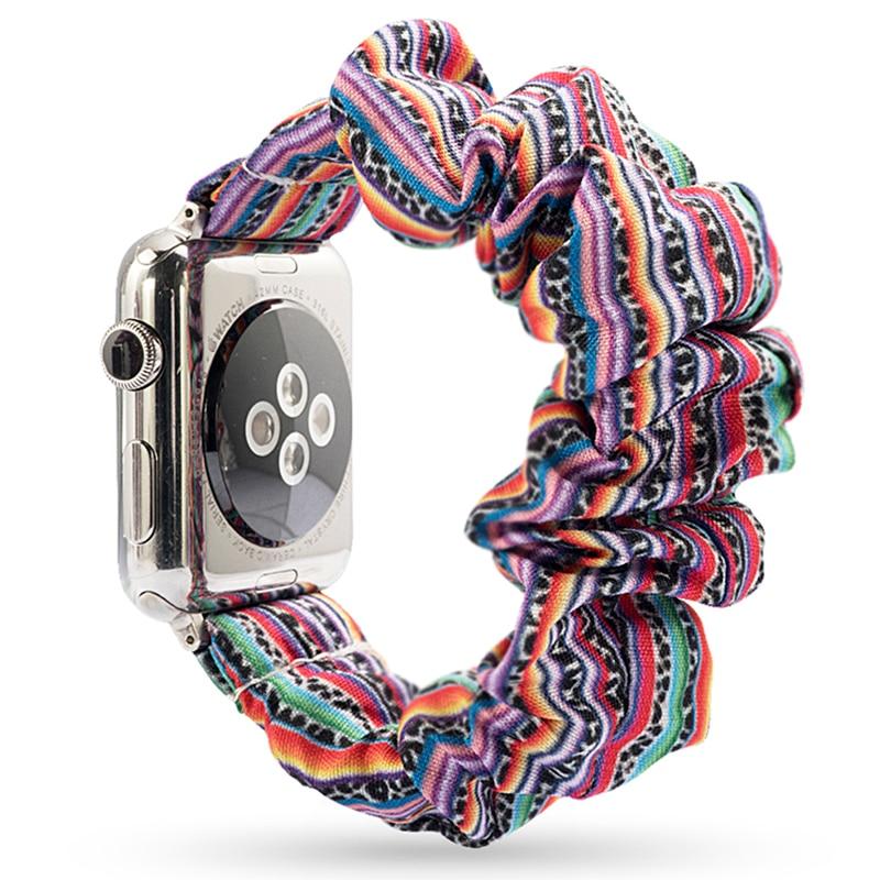 Эластичная резинка для Apple Watch 6, 5, 4, 3, 38 мм, 40 мм, 42 мм, 44 мм, спортивный ремешок, женский браслет для iwatch, наручные серии 5, 4|Ремешки для часов|   | АлиЭкспресс - Я б купила