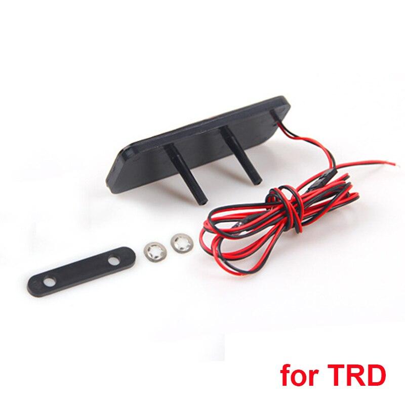 Emblème de calandre de style de voiture LED autocollant de coffre lumineux insigne rouge pour Honda RS Si pour BWM M pour Toyota TRD Logo acrylique de qualité supérieure