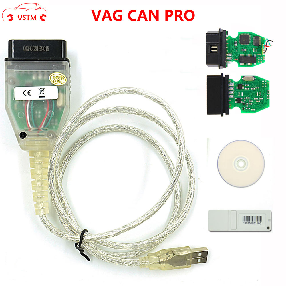 VAG CAN PRO 5.5.1 With FTDI FT245RL Chip VCP OBD2 Diagnostic Interface USB Cable Support Can Bus UDS K Line Works For AU-D-I/V-W