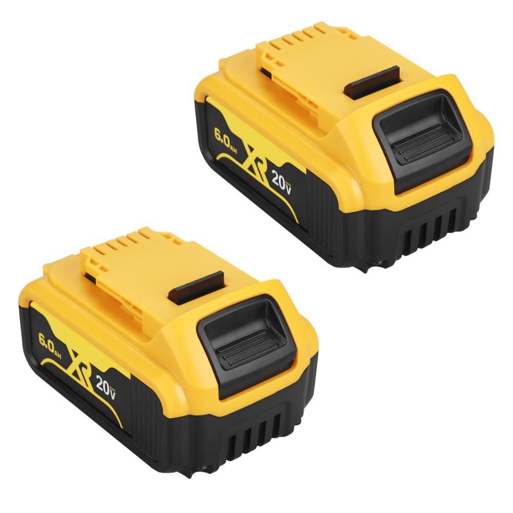 20 V 6.0Ah Макс XR Батарея електричюеского инструмента Замена для DeWalt DCB184 DCB181 DCB182 DCB200 20 V 6A 18 вольт 20 v Батарея