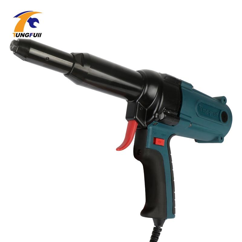 Nail Gun Electric Blind Rivet Gun Riveting Tool Electrical Power Tool 400w 220v For 3.2-5.0mm Upholstery Framing Tools