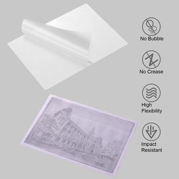 Folia do laminowania A4 folia ochronna 3 1mil 100 sztuk zestaw do laminowania dokumentów papier fotograficzny Home Office Supply tanie i dobre opinie Aibecy A4 Laminating Film Pouches Protection Other CN (pochodzenie)