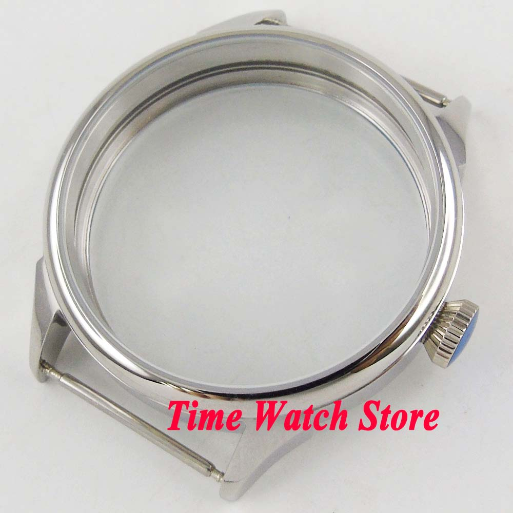 Parnis 42mm Polished Watch Case 316L Staniless Steel Fit ETA 6497 6498 ST 3600 Hand Winding Movement Luxury C138