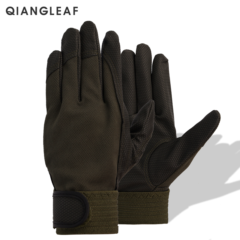 QIANGLEAF Work Glove Brand Safety Cycling Gloves Pigskin PU High Motion Quality Protective Free Shipping U750
