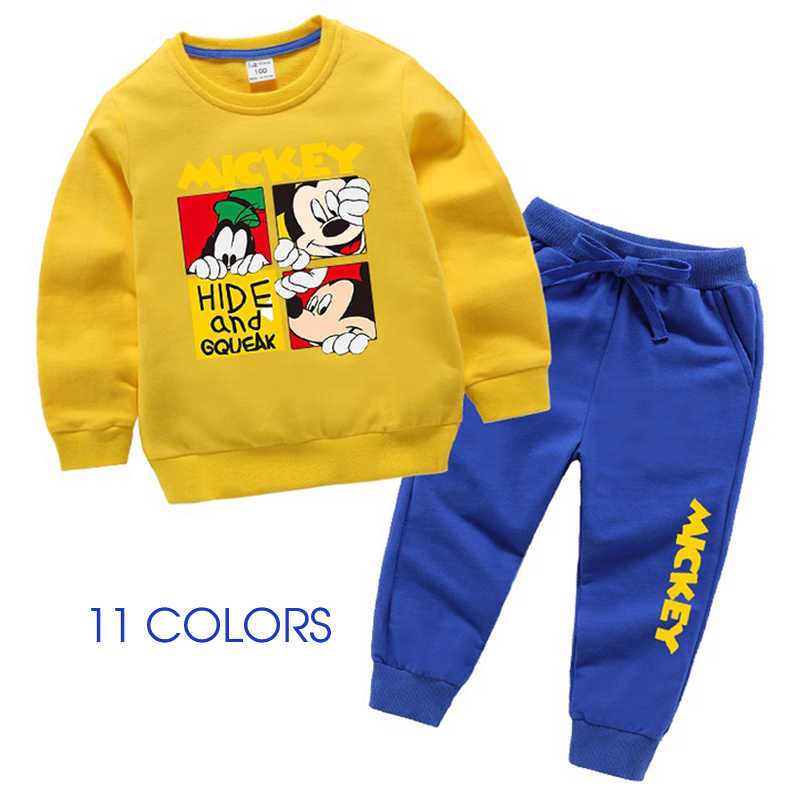 Children Clothing 2019 Autumn Winter Boys Girls Clothes Costume Outfit Suit Kids Clothes Tracksuit For Boys Mickey Clothing Sets