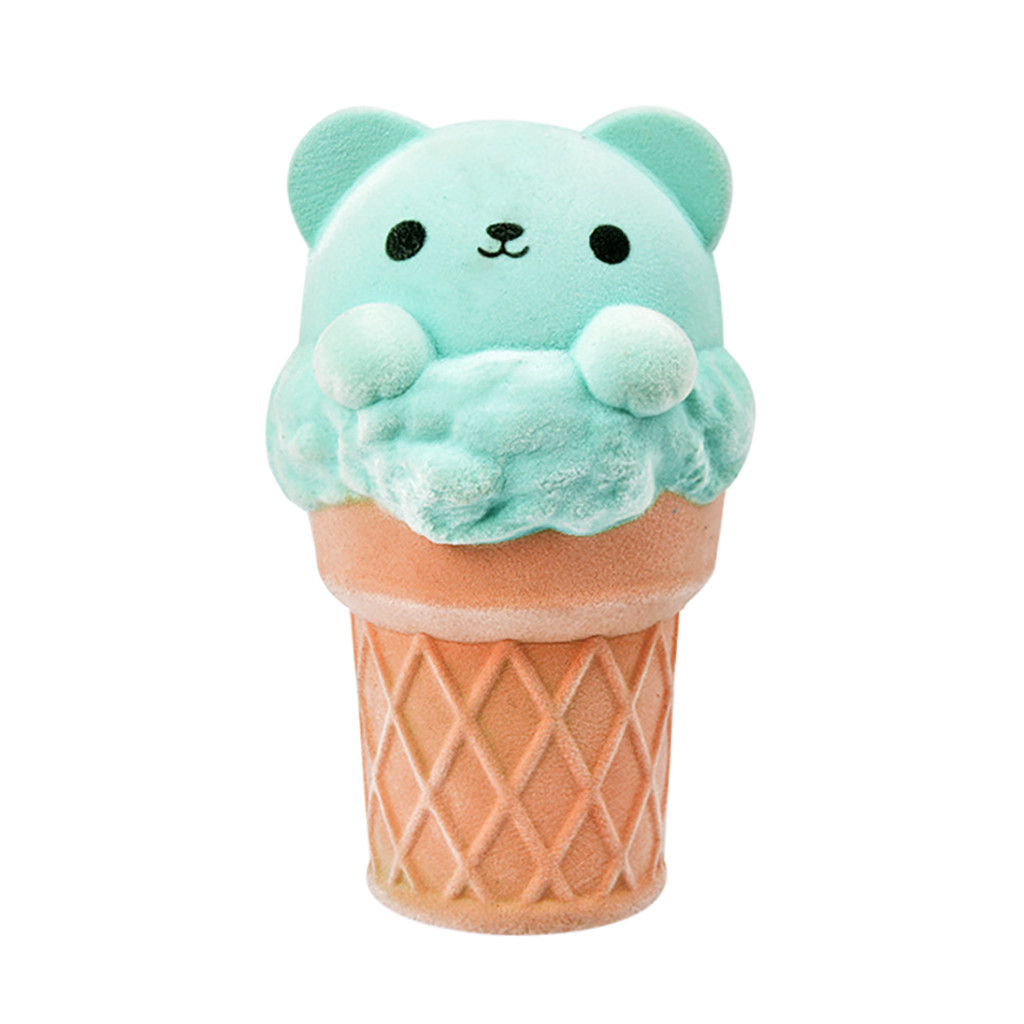 Adorable Ice Cream Bear Super Slow Rising Kids Fun Toy Slow Rebound Antistress Toy Educational &Learning Toys #B