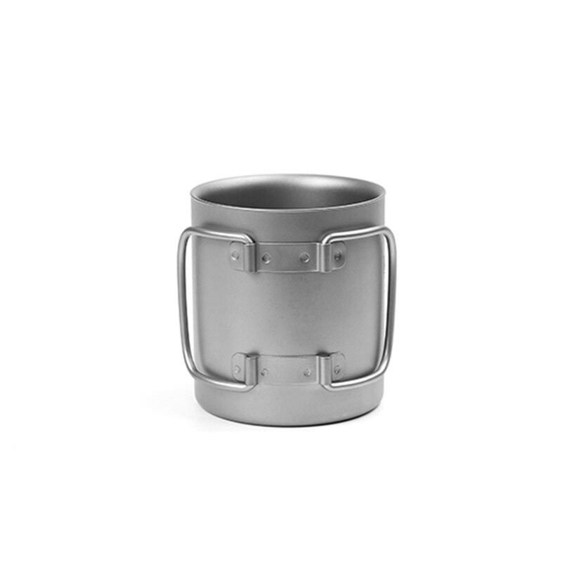 Кружка с двойной стенкой кофейная кружка теплоизоляция офисные кружки двойной кофе титановая чашка питьевое молоко путешествия кемпингов... - 5