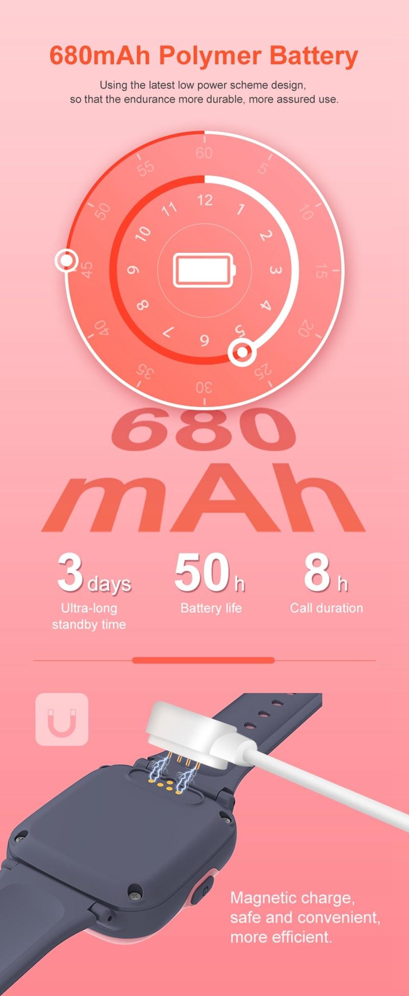 Intelligens órák gyerekeknek 4G HD videohívás GPS Smart-Watch baba vízálló fényképezőgép SOS elveszett kereső óra születésnapi ajándék (5)