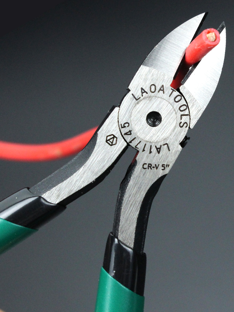 LAOA Plastic Pliers Cutters Hand-Tools Jewelry Electrical-Wire-Cable CR-V Snips 6/7inch