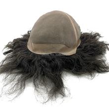 Haar perücke männlichen angepasst großen kappe toupet menschliches haar mono spitze basis frauen perücke
