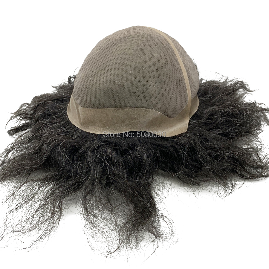 Hair Wig Male Customized Big Cap Toupee Human Hair Mono Lace Base Women Wig