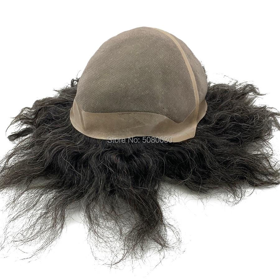 Hair Wig Male Customized Big Cap Toupee Human Hair Mono Lace Base Women Wig