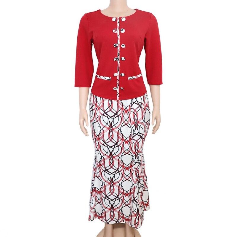 Комплект из 2 предметов, африканская одежда, Африканский Дашики, новый модный костюм Дашики (топ и юбка), супер эластичные вечерние, 5XL