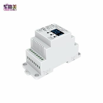 Mejor venta 2020 1CH * 2A AC DMX512 Dimmer S1-D1 carril DIN AC100-240V 480W Triac DMX Dimmer 110V 220V DMX 512 controlador de LED