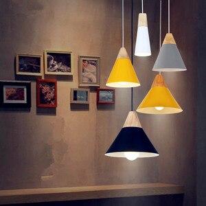 Image 3 - ペンダント lustres abajur ペンダントランプ照明器具 hanglamp カラフルなアルミランプシェード家庭用照明ダイニングルーム lampsha