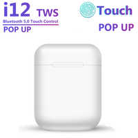Original i12 TWS Drahtlose Bluetooth 5,0 Kopfhörer Sport Sweatproof Kopfhörer Touch Tragbare Ohrhörer für i10 i20 tws i30 i60 i80