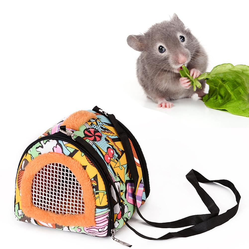 Small Pet Outside Bag Pet Hamster Carrier Bag Breathable Portable Travel Handbags Backpack With Shoulder Strap For Small Pets