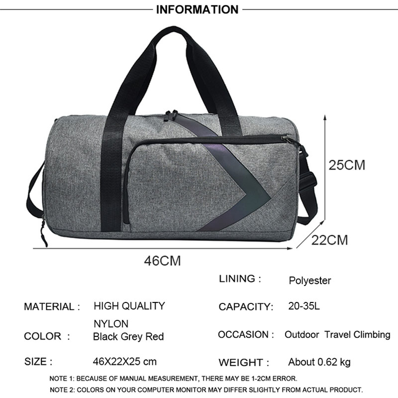 Dry And Wet Fitness Bag Fashion Gym Tas Sac A Dos Sport Outdoor Women Sports Bags For Men Gym Bag Shoe Compartment Training Bag 2