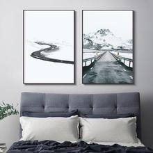 Зимние дорожные украшения постеры и принты Скандинавское украшение
