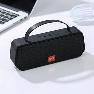 Image 1 - Mais novo bluetooth 5.0 alto falantes portáteis ao ar livre sem fio bluetooth estéreo alto falante suporte tf cartão fm chamada handsfree