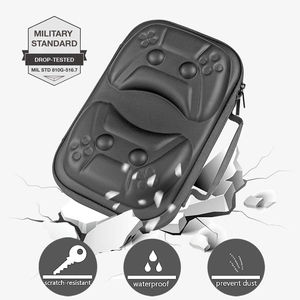 Image 3 - for PS5 Portable EVA Hard Travel Carrying Case Cover Shockproof Storage Bag Pouch Shell For PlayStation 5 Controller Accessories