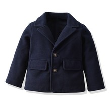 Autumn Childrens Jacket Single-breasted for a Boy Fashion Baby Gentleman Solid Color Kids Coats