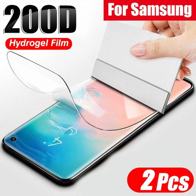 2 Chiếc 200D Hydrogel Cho Samsung Galaxy S20 S10 S9 S8 Plus Note 20 10 9 Plus 5G bảo Vệ Màn Hình Trong Cho Samsung S20 Siêu Bộ Phim
