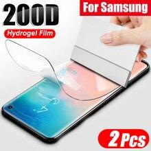 2 pièces 200D Hydrogel Film pour Samsung Galaxy S20 S10 S9 S8 Plus Note 20 10 9 Plus 5G protecteur décran pour Samsung S20 Ultra Film