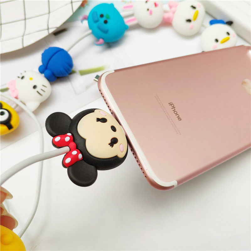 Image 4 - Cartoon Figure Cable Protector for IPhone Lightning Type C Micro USB TSUM Data Line Silicone Winder for Samsung Xiaomi Huawei-in Mobile Phone Straps from Cellphones & Telecommunications