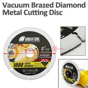 Image 3 - SHDIATOOL 1pc 4.5/ 5 Vacuum Brazed Diamond Metal Cutting  Blades Steel Tube, Iron Rebar Cut off Saw Wheel Disc Angle Steel
