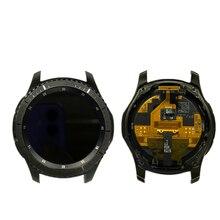 Relógio original montagem da tela lcd forsamsung gear s3 SM-R760 SM-R765 SM-R770 relógio inteligente, r760 r765 r770 com caso de superfície