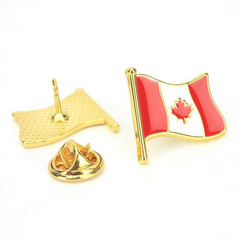 1 قطعة العلم الموضة الملونة الإبداعية USA أستراليا كندا كوريا بروش معدني شارة دبوس قبعة الدنيم سترة الملابس الديكور مجوهرات