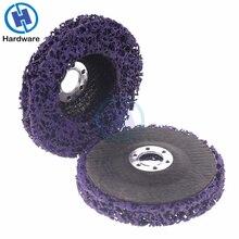 2 stuks 125mm Poly Strip Disc Schurende Wiel Verf Roest Removal Clean Voor Haakse Slijper