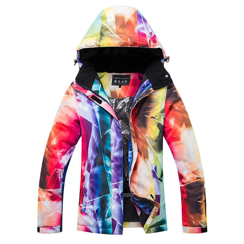 Wanita Ski Cocok Snowsuit Pakaian Snowboard Pakaian Tahan Air Tahan Angin Hangat Musim Dingin Ski Jaket Celana Set