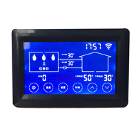 Electric Boiler Controller Boiler Thermostat 4.3inch Segment LCD Touch Screen Type 4304